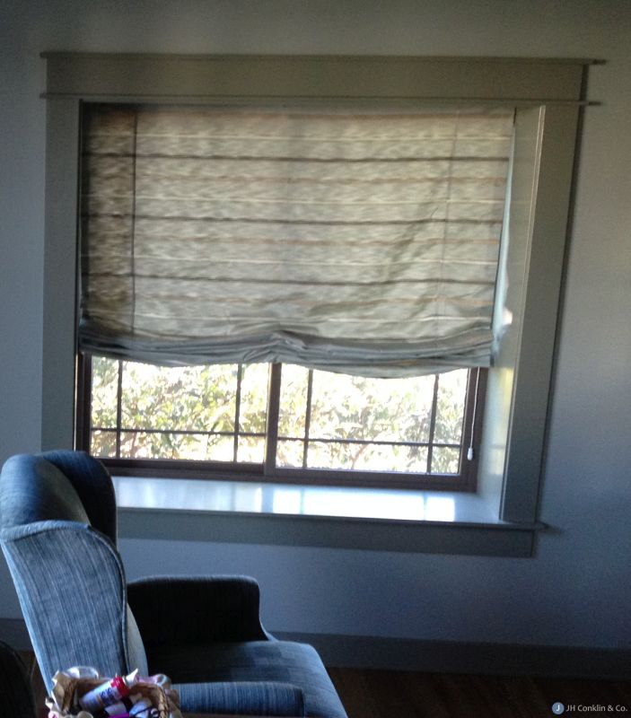 Relaxed Roman Shade installed in Blackwood NJ.