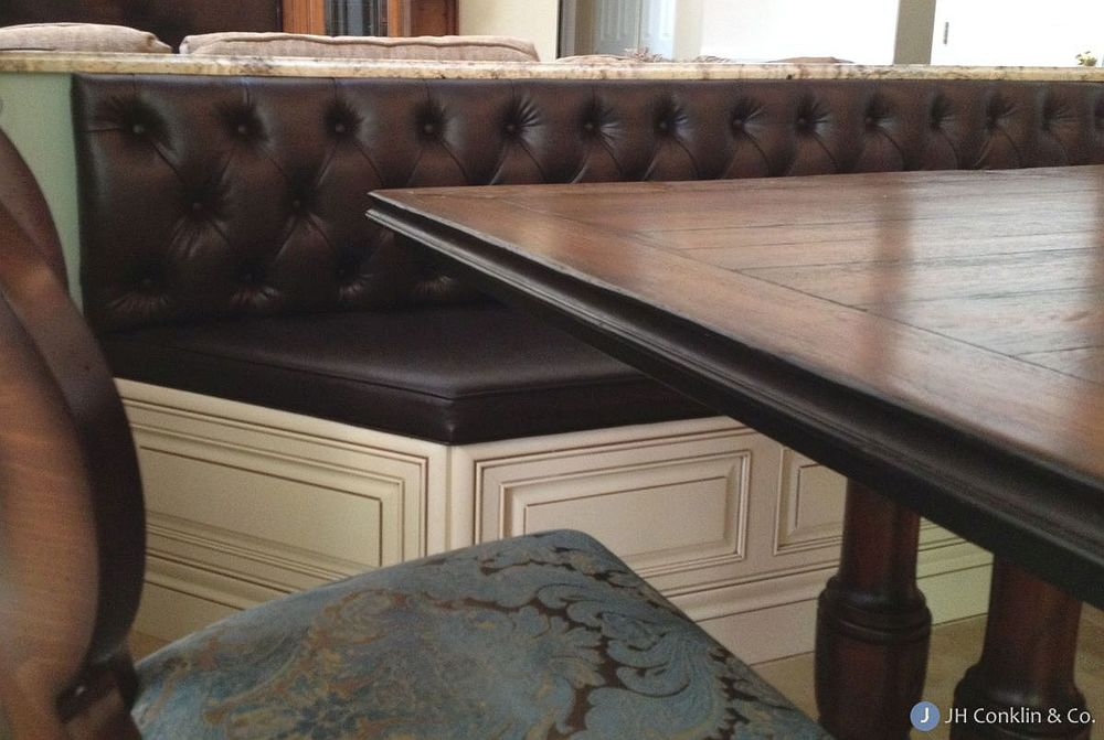 Custom upholstered bench seat cushions in Sewell, New Jersey
