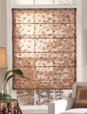 Front Fold Roman shade floral fabric