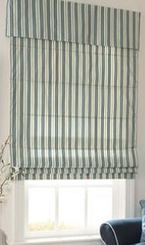 Reverse fold Roman Shade - attached valance