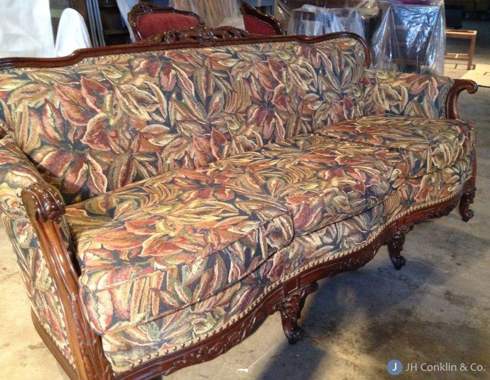 Washington Twp sofa before re-upholstery