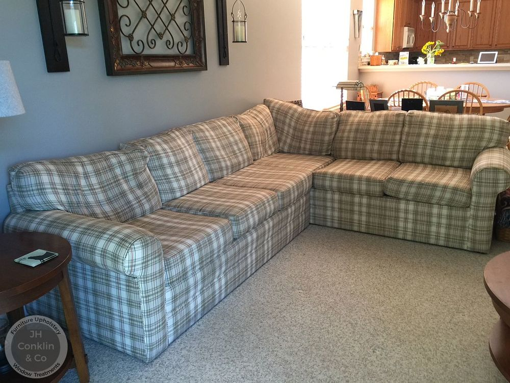 Egg Harbor NJ sectional sofa before new upholstery