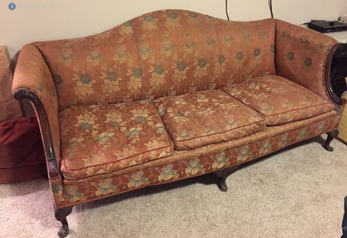 Upholster camel back sofa Woodstown NJ