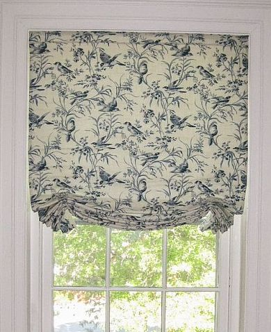 inside mount slouch roman shades custom made in NJ