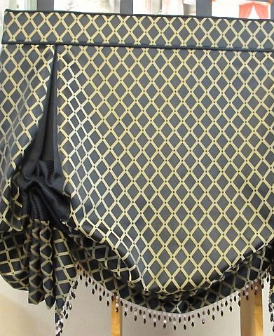 London shade contrast pleat and beads nj
