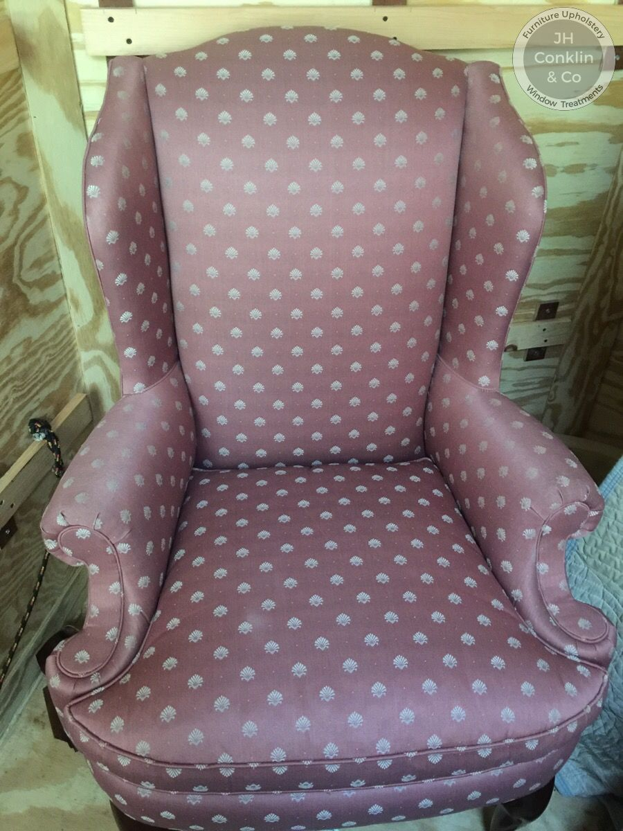 egg harbor NJ wing chair before reupholstery