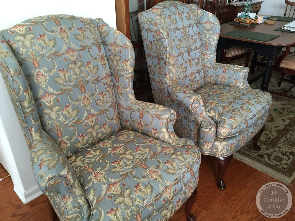 Wing Chairs Reupholstered Egg Harbor NJ
