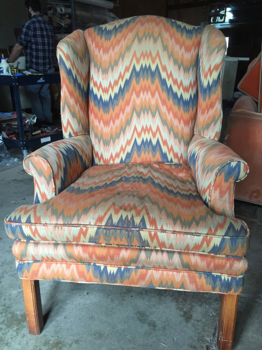woodstown nj wing chair before upholstery