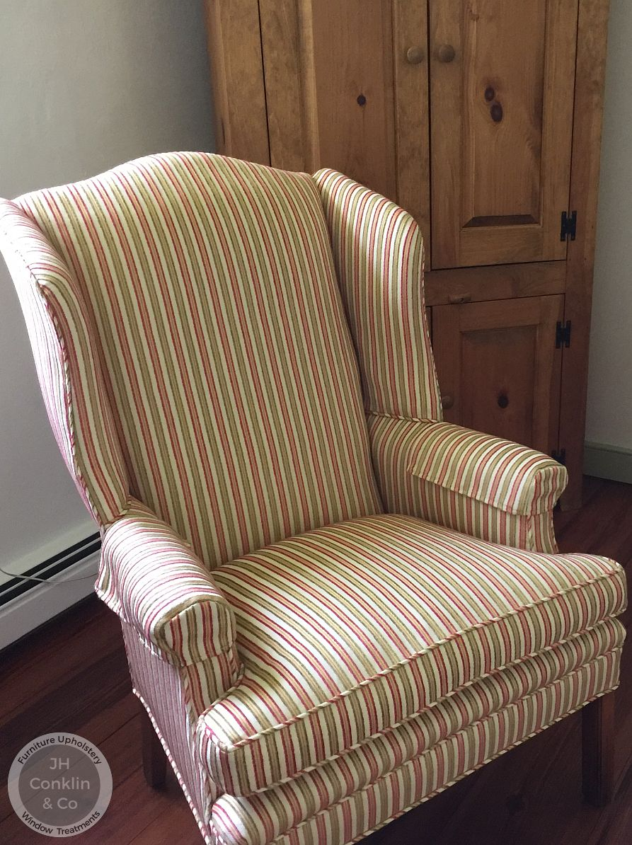 woodstown nj wing chair after upholstery