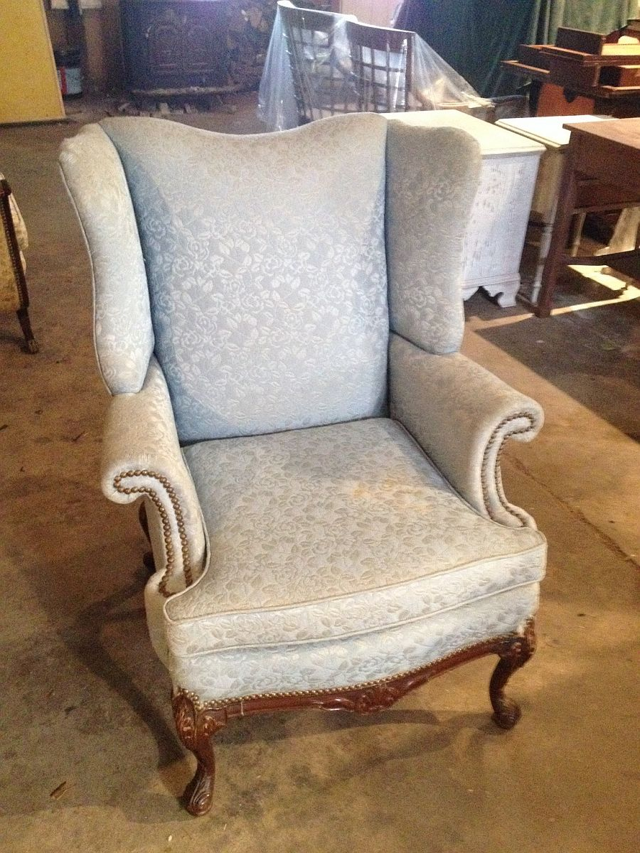 Vintage Wing Chair Before Upholstery Sewell Nj