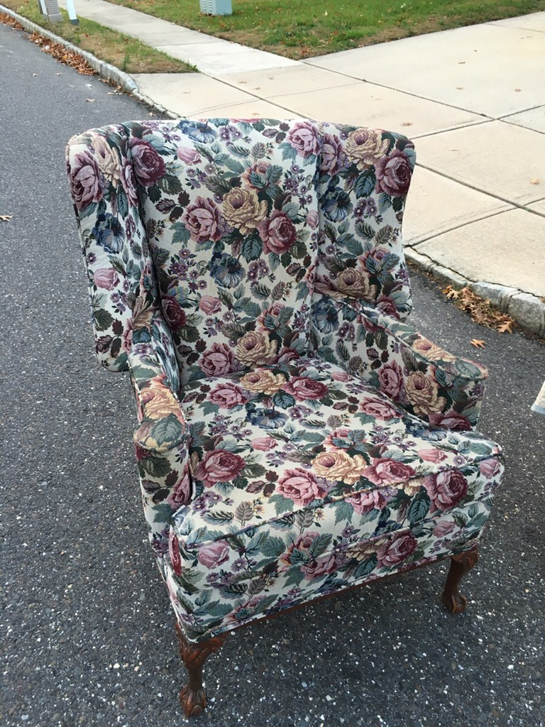 burlington nj wing chair before upholstery & Cost to Re-Upholster A Wing Chair
