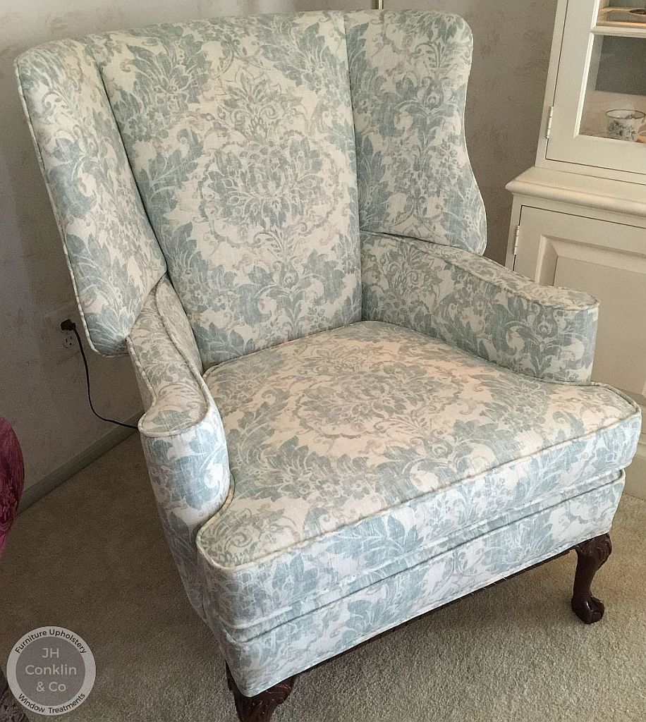 wing chair reupholstered burlington nj