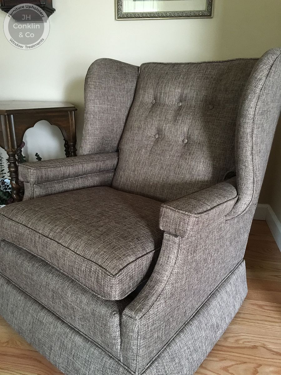 upholstery cost wing chair with skirt Wrightstown, NJ