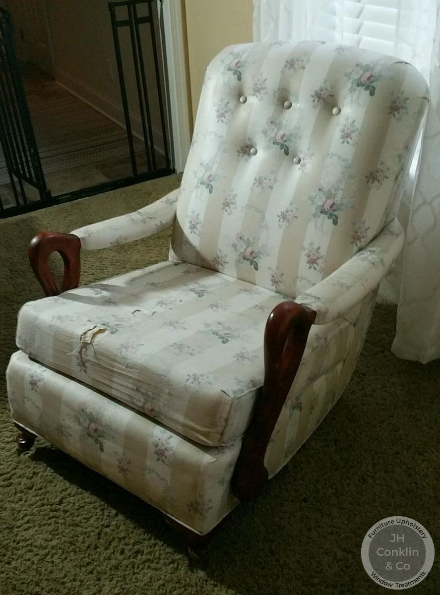 goose neck rocker before upholstery vineland nj