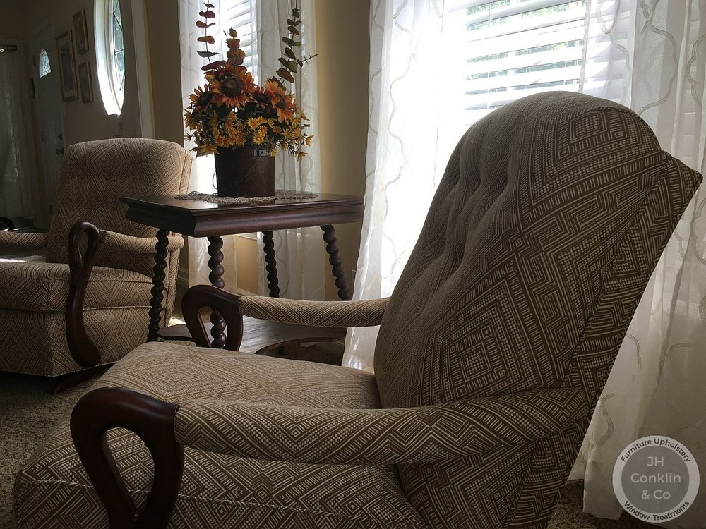 upholstered goose neck rocker vineland nj