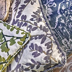 ..Robert Allen is the leading fabric house of the interior design community. Browse their selection of upholstery fabrics, accent trim, furniture, and paint coordinates. Call or email us with your pattern and color information and we can have samples sent to you.