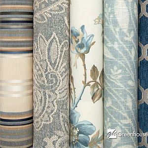 ..Furniture upholstery fabrics and trim from Greenhouse fabrics. Selecting beautiful, new fabrics has never been so easy.  Browse a variety of patterns, save, and compare your favorites. When you find the fabrics you love, simply use the email tool to send your fabric selections to us.