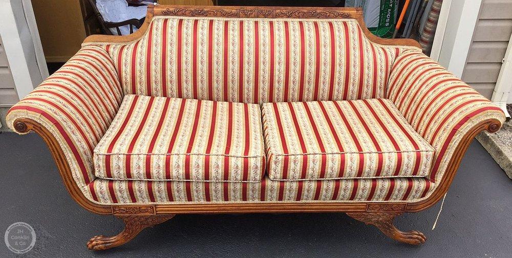 delaware sofa before reupholstery