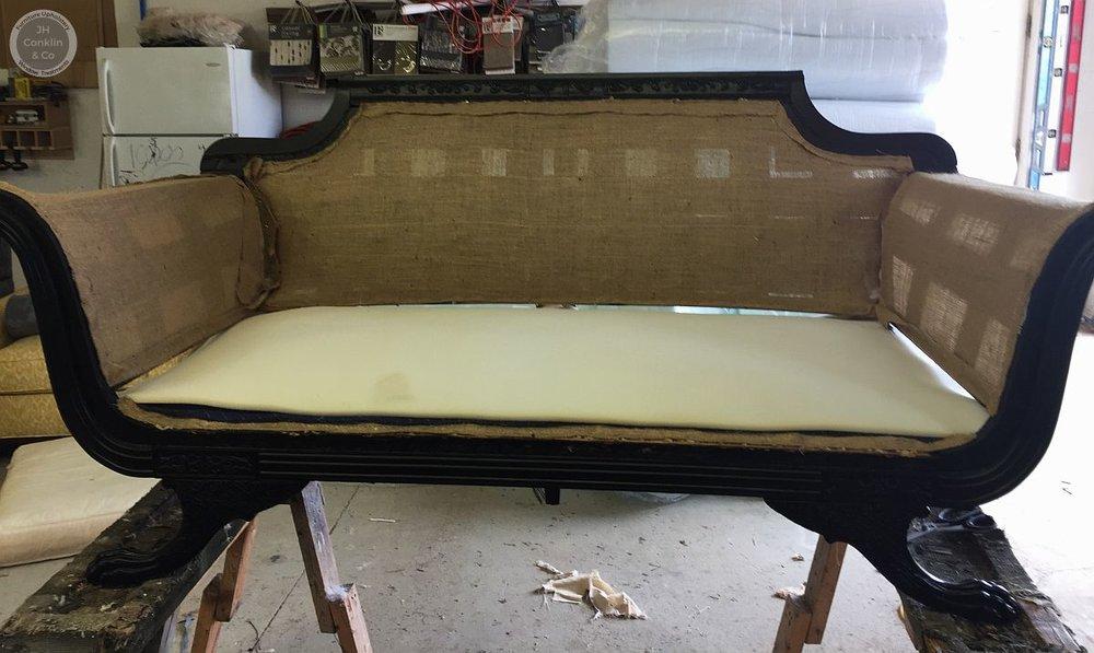 burlap foam upholstery foundation
