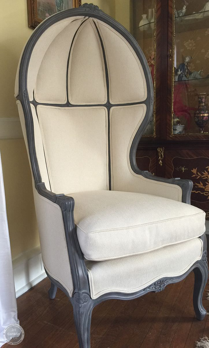 canopy porters chair reupholstered Haddonfield NJ