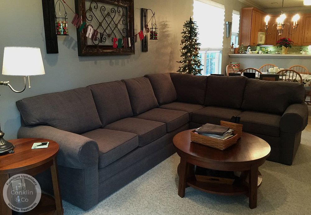 average sectional sofa reupholstery cost
