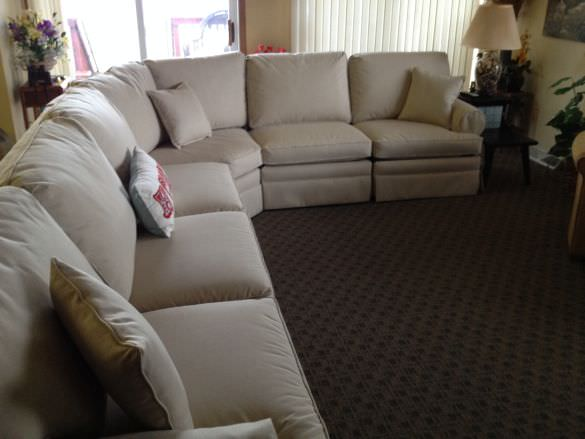 price large sectional upholstery cost
