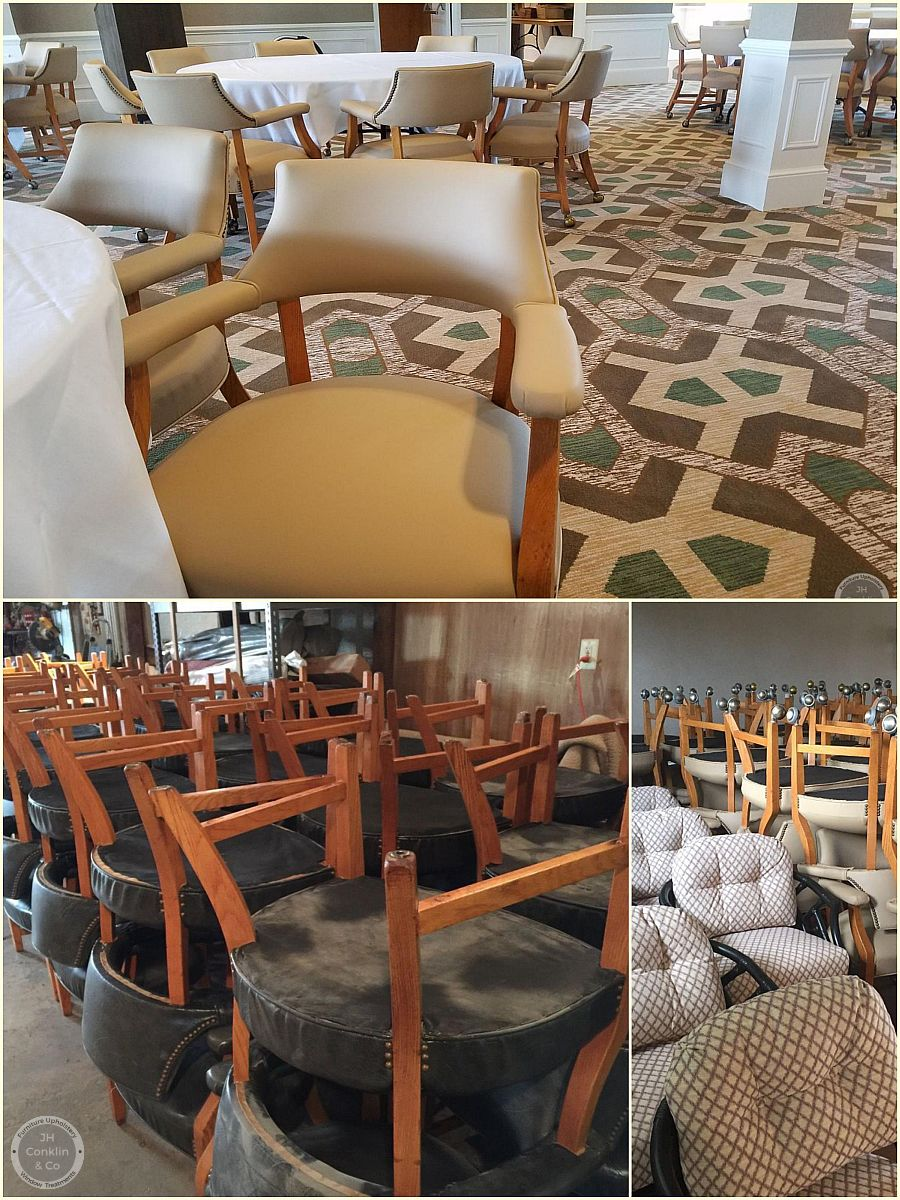 Country club seating reupholstered Springfield, PA