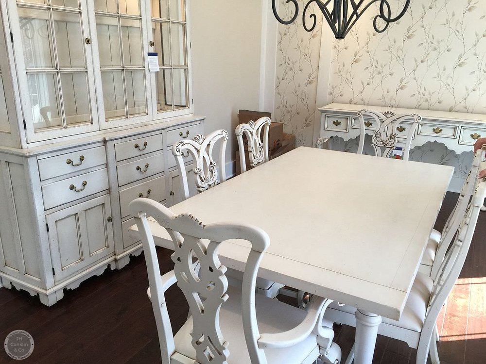 dining set refinished with paint and glaze pennsylvania