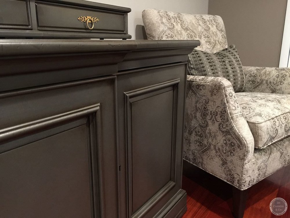designer metallic refinished sideboard cherry hill nj