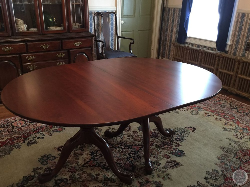 cherry dining table refinished hainesport nj