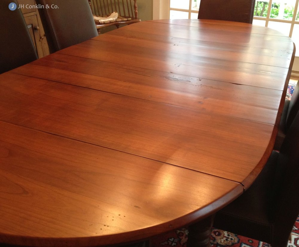 vintage cherry table refinished haddonfield nj