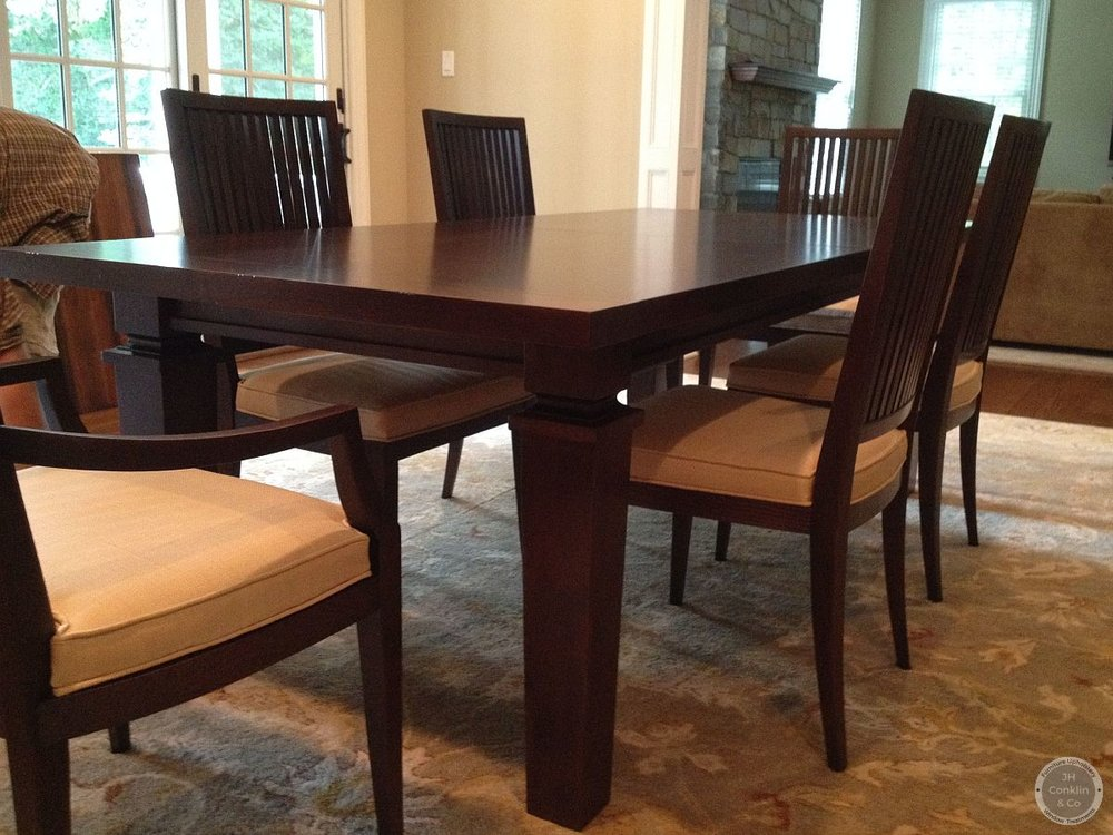 restoration hardware dining table and chairs refinished haddonfield nj