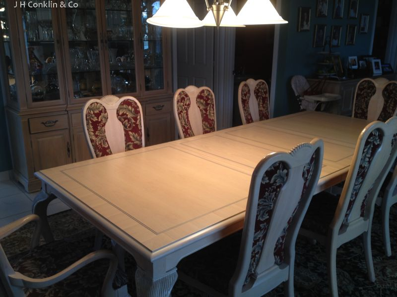oak dining table refinished vineland nj