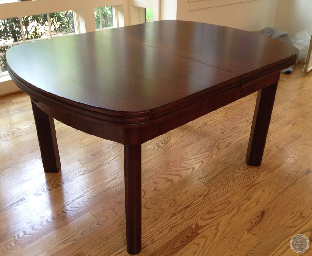 walnut extension table refinished moorestown nj