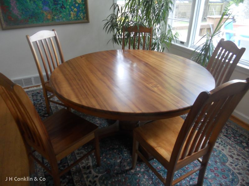table chairs refinished haddonfield nj