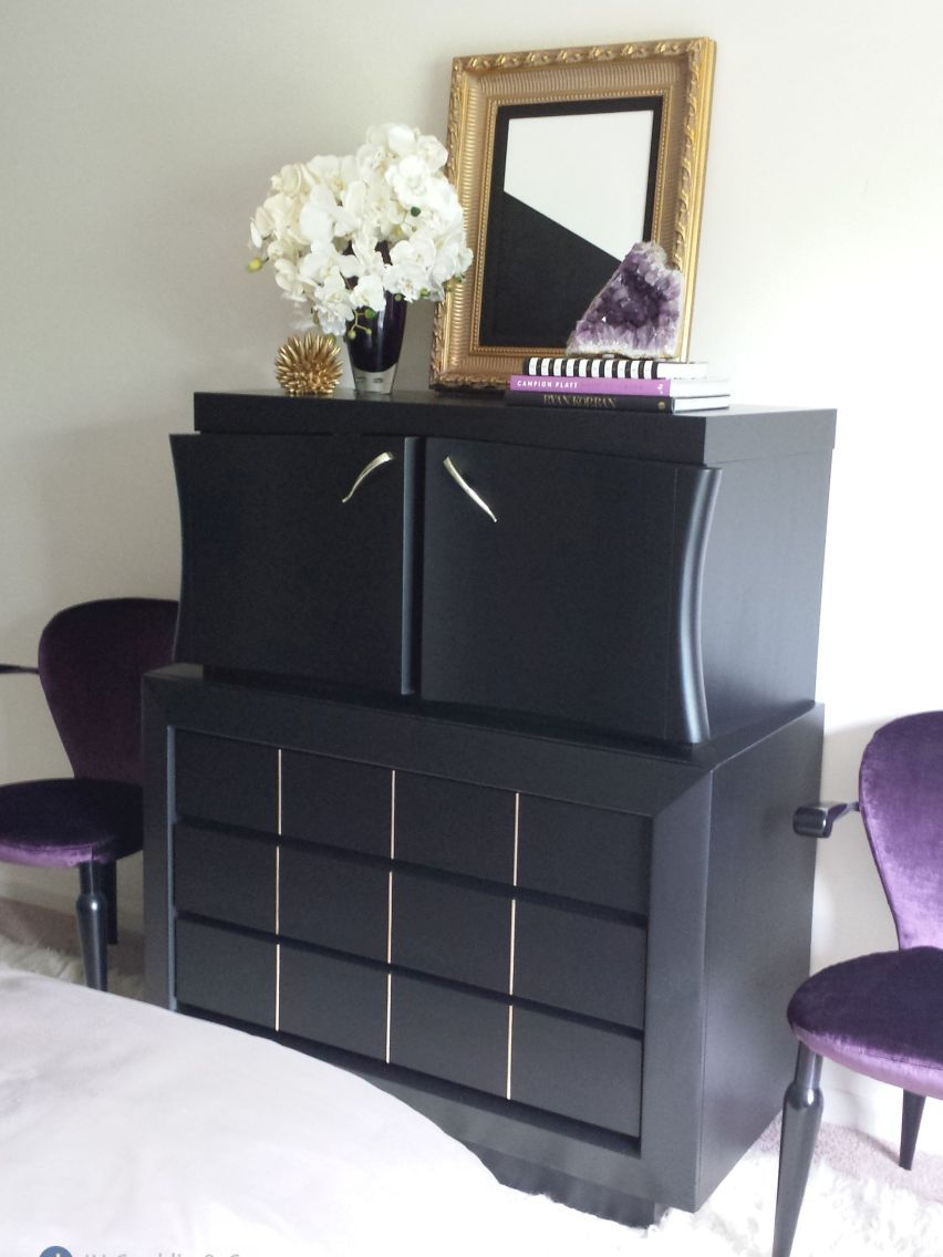 refinished chest black lacquer sicklerville nj