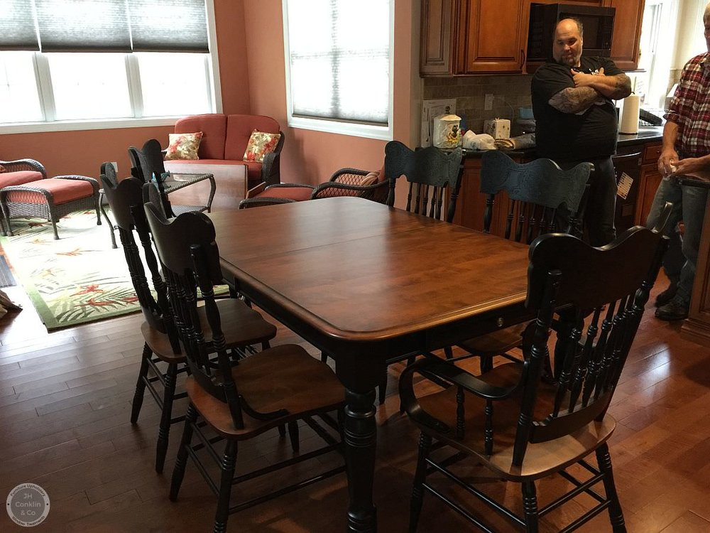 kitchen table and chairs refinished two tone in moorestown-nj