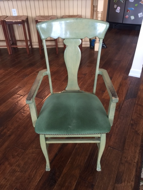 harvey cedars nj-chair before finishing and reupholstery