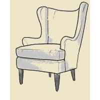 danish wing chair