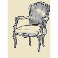 french cane back arm chair