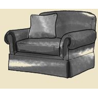 large arm chair skirted