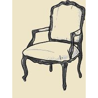 open arm french chair