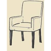 dining club chair upholstered