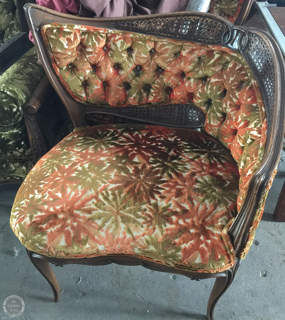 fireside chair before makeover in new jersey
