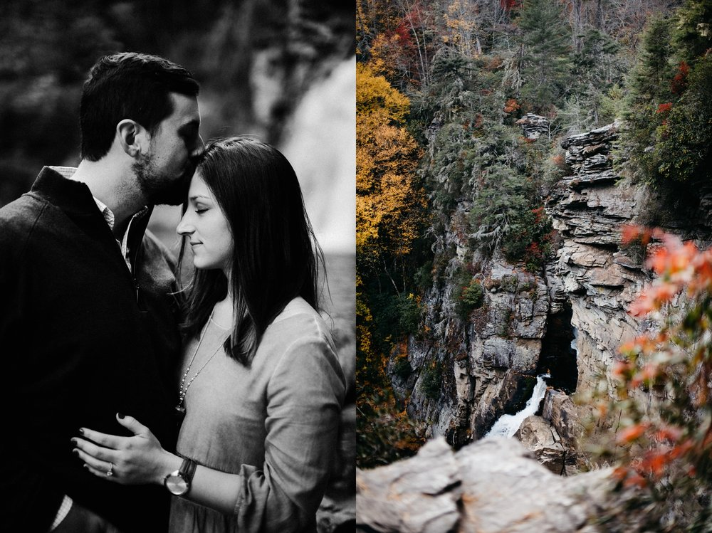 NC Wedding Photographer | North Carolina Photographer | Mountain Engagement Session | Linville Falls engagement session | Linville Falls, NC | Still Co. | Adventurous Wedding Photographer