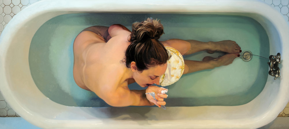 "Lemon Meringue  , 2010  Oil on Linen  32"" x 72"""