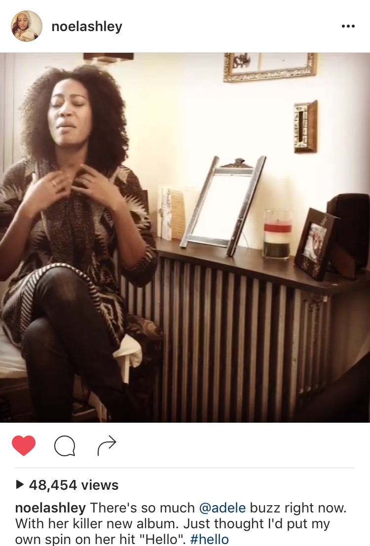 """Picked and featured by Instagram as one of it's BEST HOLIDAY videos. My Adele """"Hello"""" spoof went Instagram viral with over 32,000 likes, more than 48,000 views and counting!"""