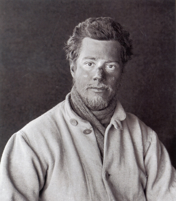 Herbert Ponting (the expedition's photographer) took many intimate portraits of the men, here highlighting Cherry-Garrard's youthful innocence.