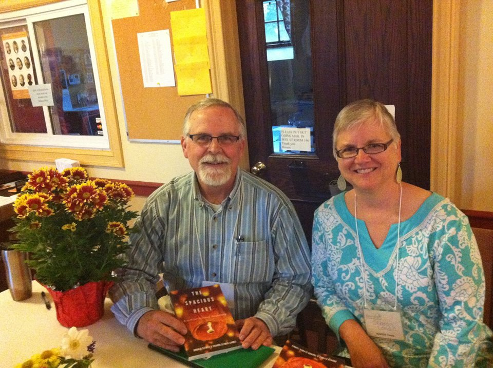 Don and sister Sharon at book signing for their book A SPACIOUS HEART