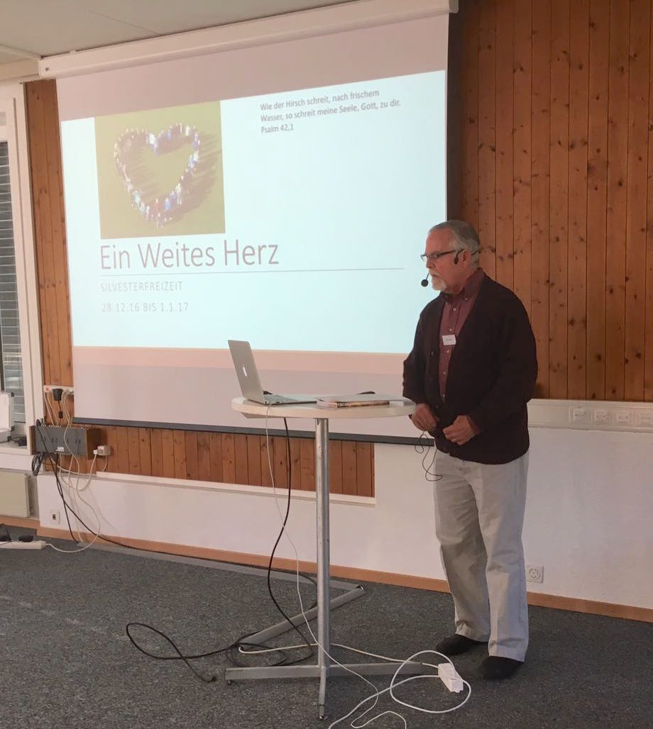 Presenting for a New Year's retreat at Bienenberg Training Center. Theme was a Spacious Heart, based on our book of the same title.